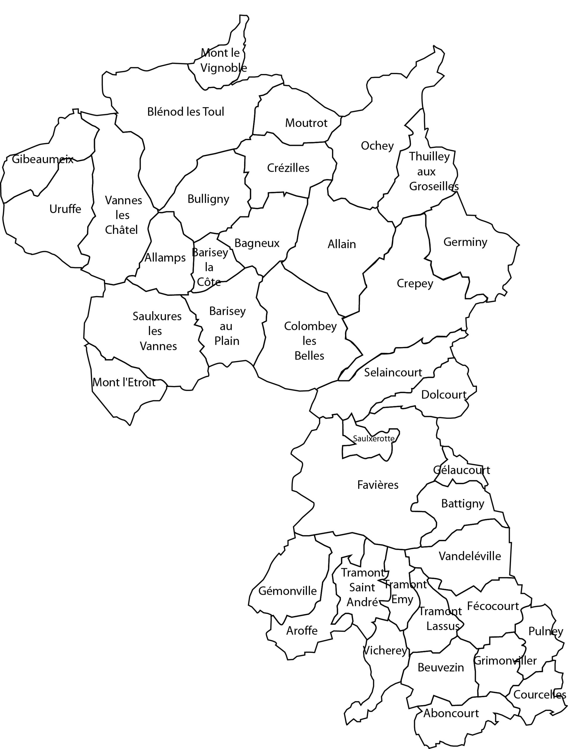carte intercommunalité pays de colombey